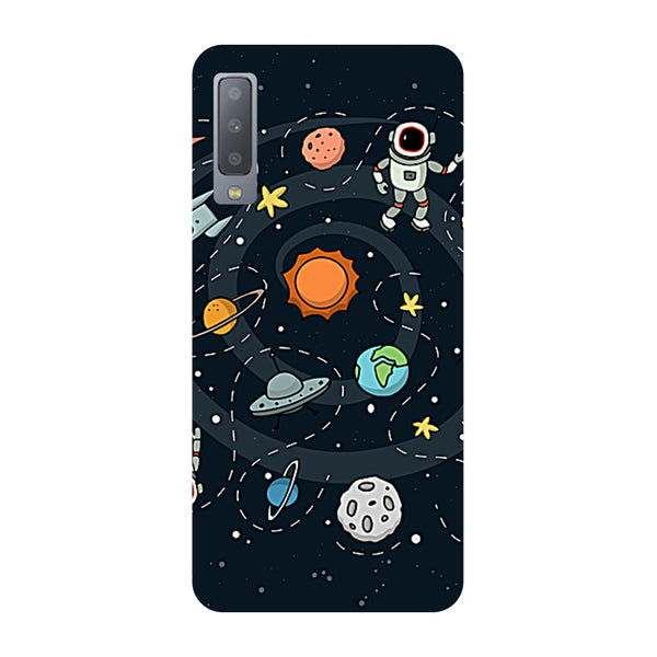 Space Samsung Galaxy A7 Back Cover-Hamee India