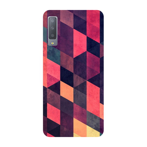 Pink Abstract Samsung Galaxy A7 Back Cover-Hamee India