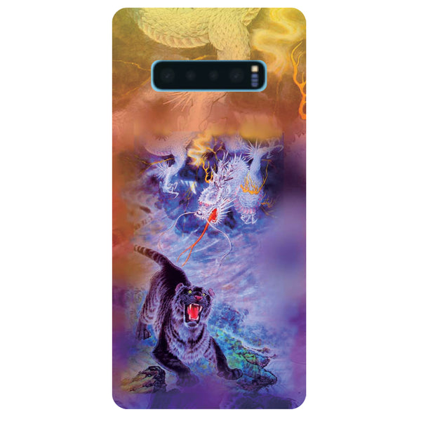 Tiger Samsung Galaxy S10 Back Cover-Hamee India