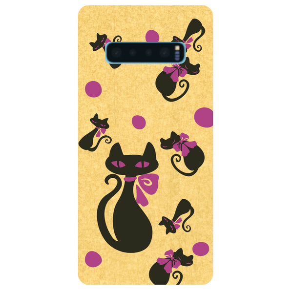 Yellow Cats Samsung Galaxy S10 Back Cover-Hamee India