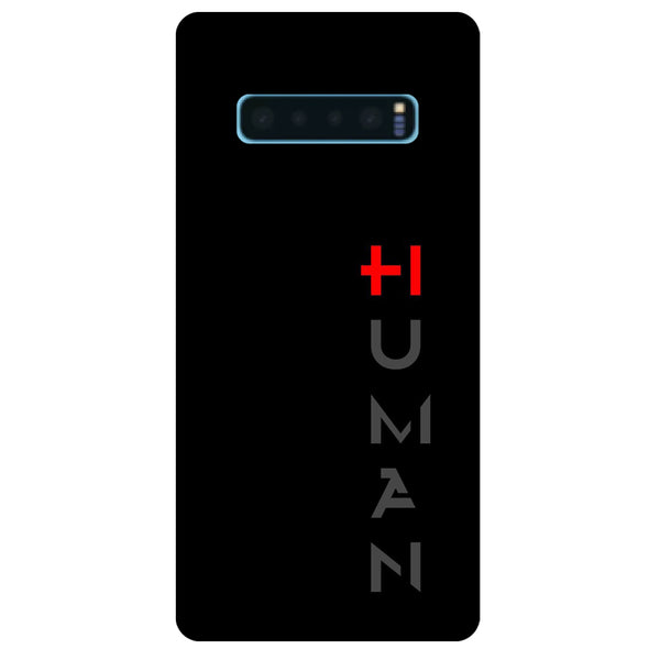 Human Samsung Galaxy S10 Back Cover-Hamee India