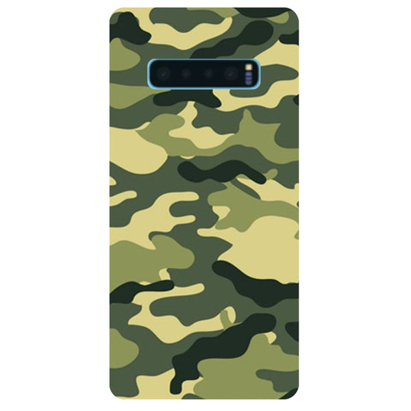 Green Camouflage Samsung Galaxy S10 Back Cover-Hamee India