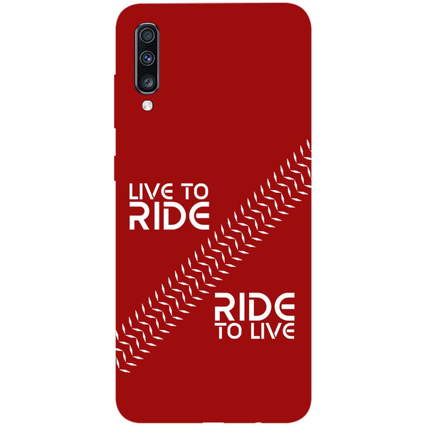 Live Ride Samsung Galaxy A70 Back Cover-Hamee India