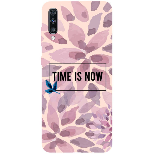 Time Is Now Samsung Galaxy A70 Back Cover-Hamee India