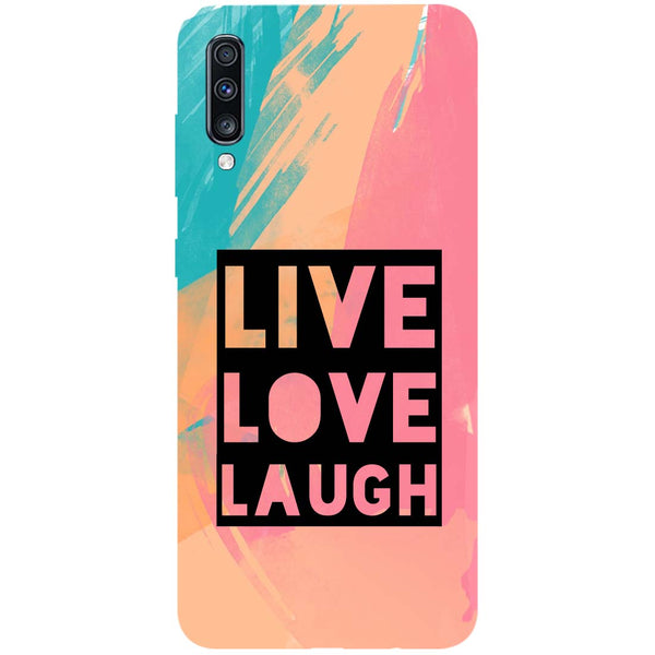 Live Love Samsung Galaxy A70 Back Cover-Hamee India
