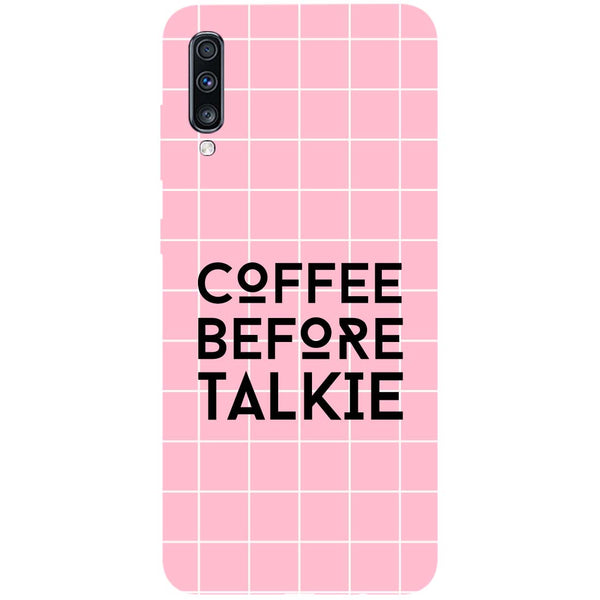 Coffee Talkie Samsung Galaxy A70 Back Cover-Hamee India