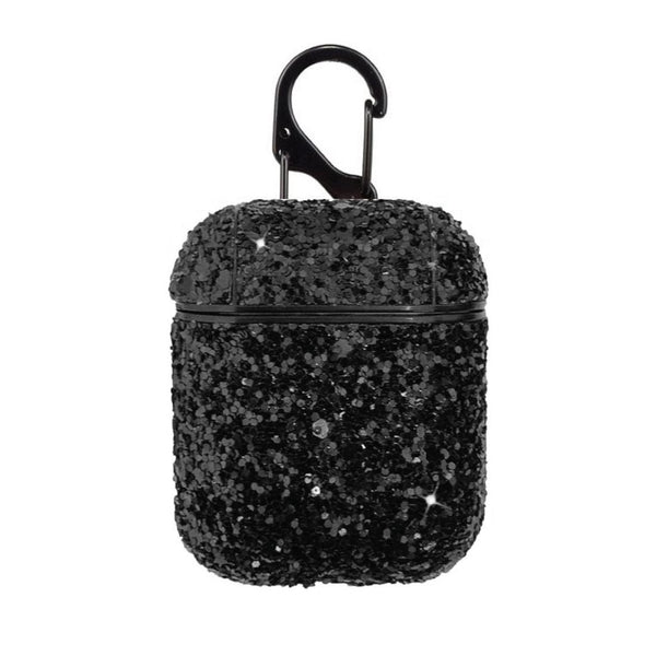 Glitter Airpods Case - Black