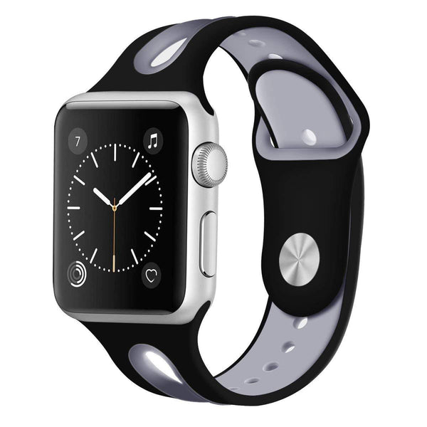 Black Silicone Sport Band Strap - Apple Watch Series 5/4/3 (44mm/42mm)