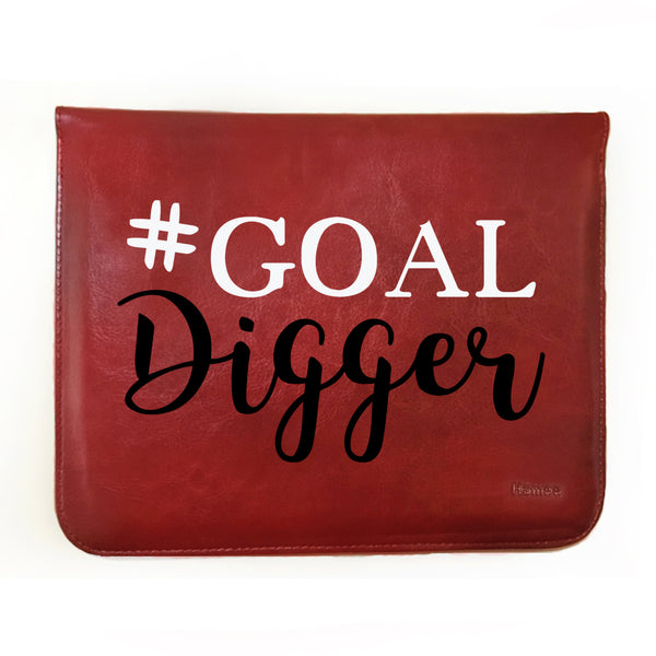 Hamee - Goal Digger - Tan Brown Leather 11 inch Tablet Sleeve-Hamee India