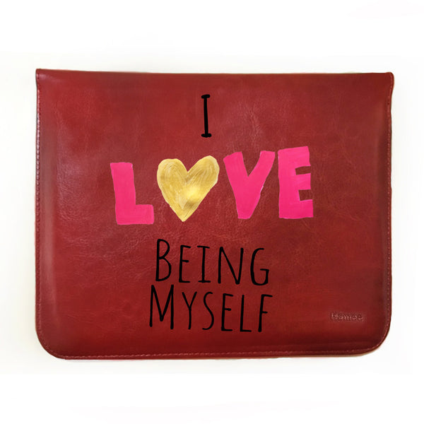 "Hamee Tan Brown Leather Tablet Case for Samsung Tab A SM-T355YZWA Tablet (8 inch) ""Being Myself"""