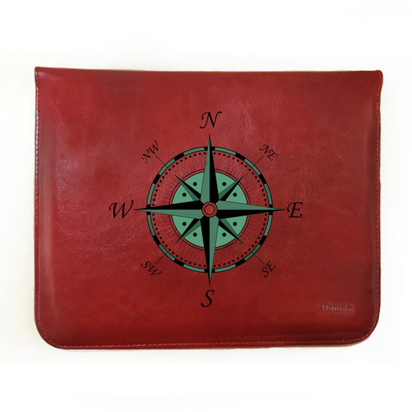 Hamee - Compass - Tan Brown Leather 11 inch Tablet Sleeve-Hamee India