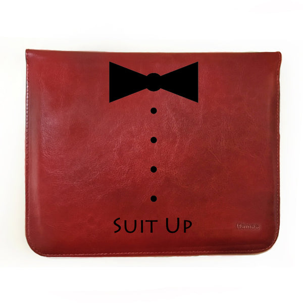 Hamee - Suit Up - Tan Brown Leather 11 inch Tablet Sleeve-Hamee India