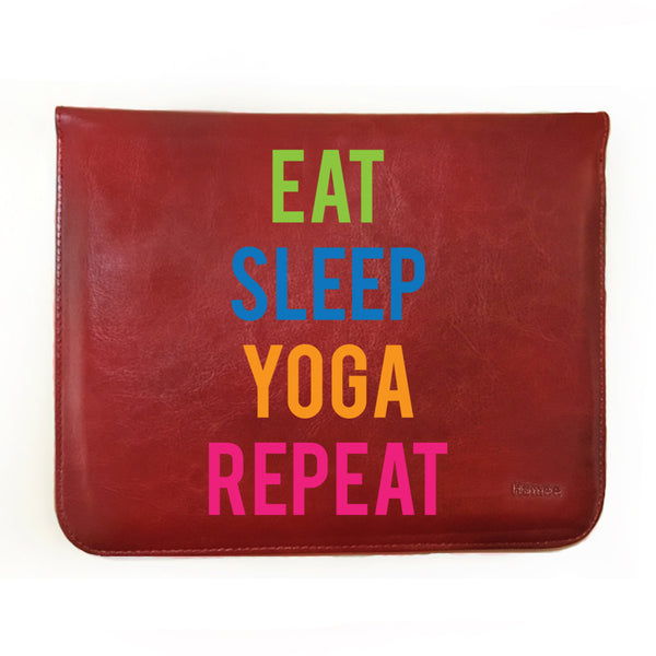 Hamee - Eat Sleep Yoga Repeat - Tablet Case for iBall Slide Wings Tablet (8 inch)-Hamee India