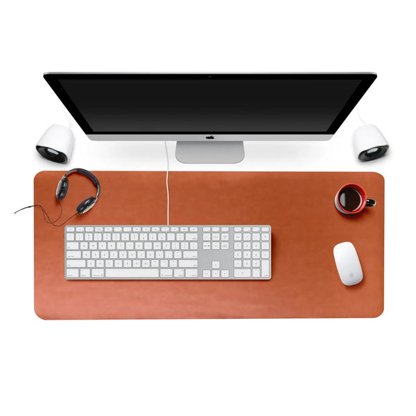 Tan Brown - XXL Leather Mouse Pad / Desk Pad