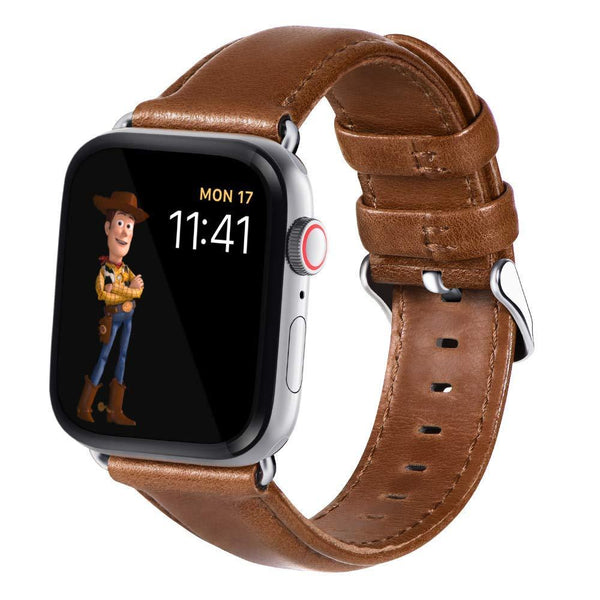Tan Brown Real Leather Band Strap - Apple Watch Series 5/4/3 (44mm/42mm)
