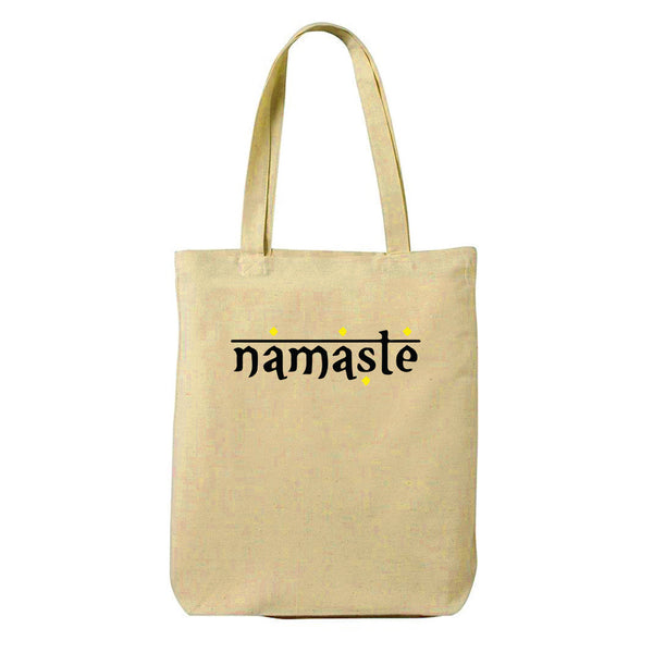Namaste Canvas Shopping Tote Bag-Hamee India
