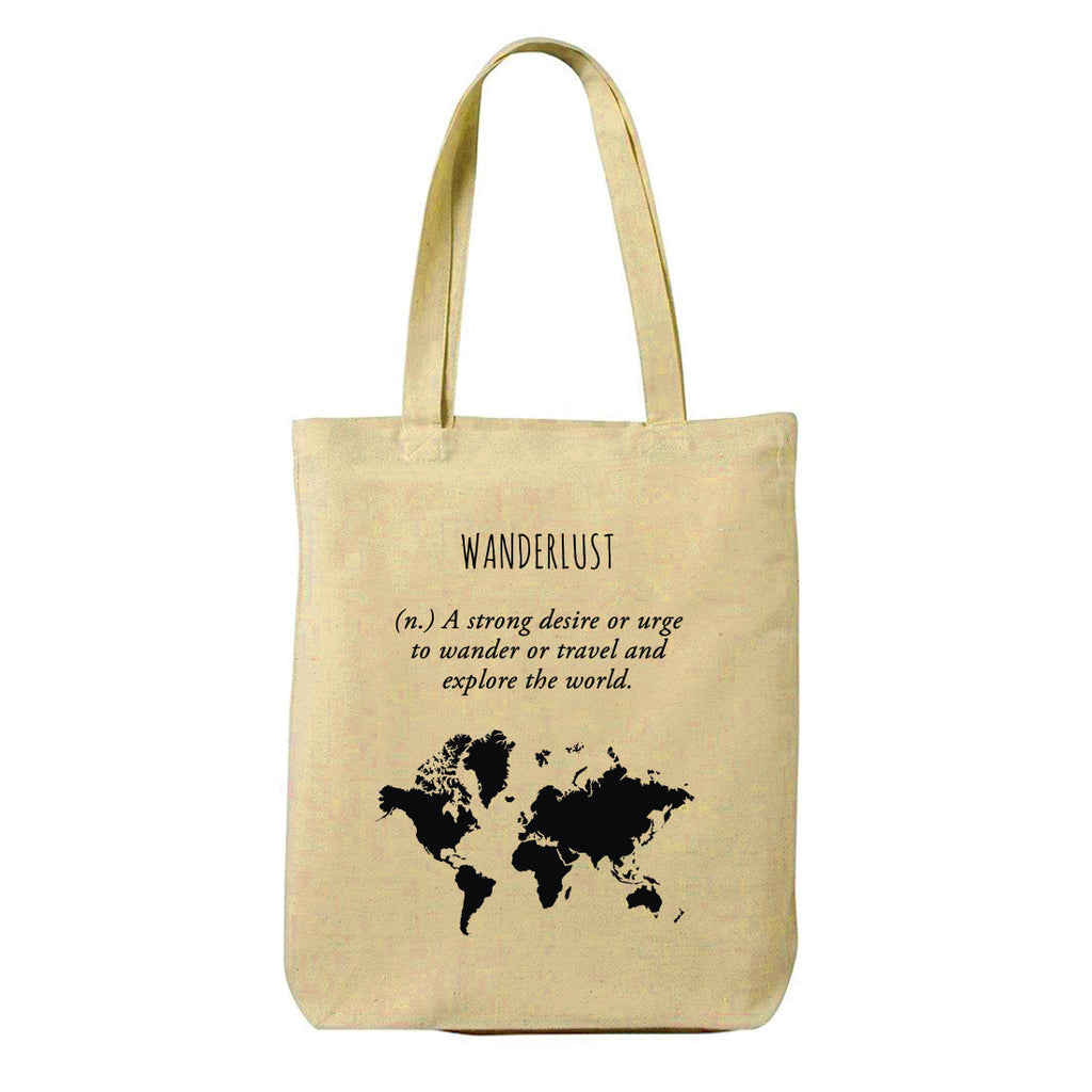 Wanderlust Canvas Shopping Tote Bag-Hamee India