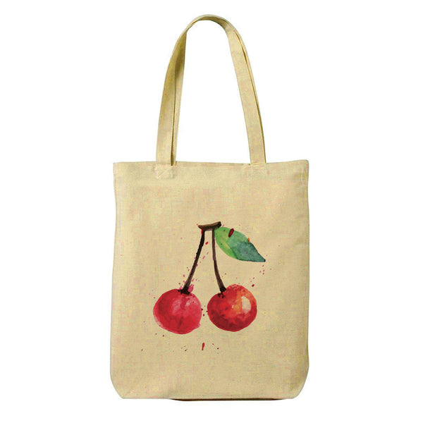 Cherry Canvas Shopping Tote Bag-Hamee India