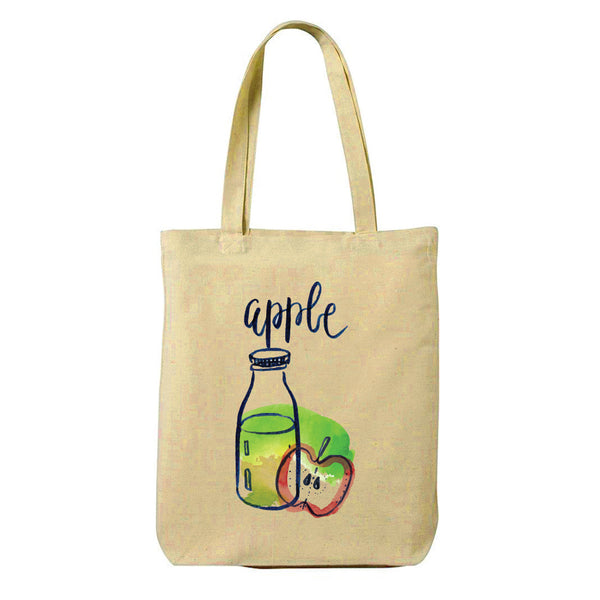 Apple Canvas Shopping Tote Bag-Hamee India
