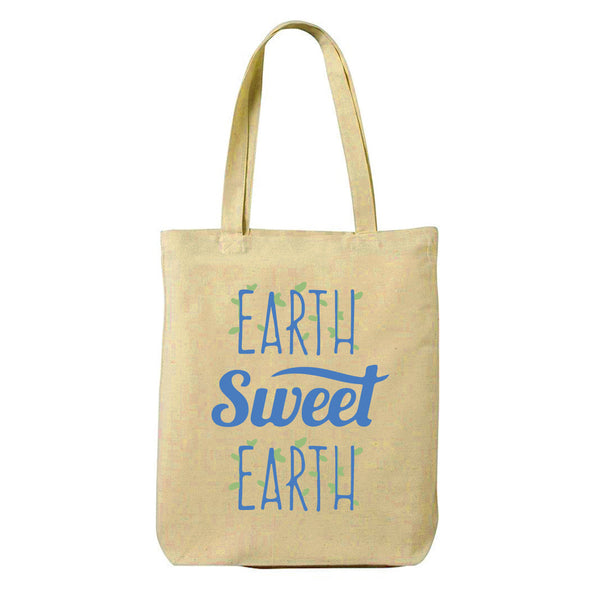 Earth Sweet Earth Canvas Shopping Tote Bag-Hamee India