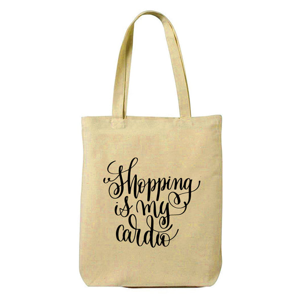 Cardio Canvas Shopping Tote Bag-Hamee India