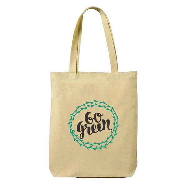 Go Green Canvas Shopping Tote Bag-Hamee India