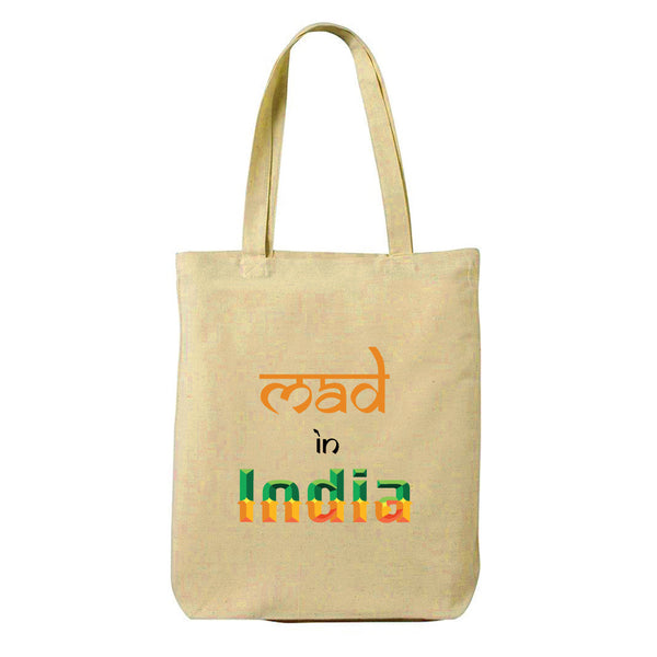 Mad In India Canvas Shopping Tote Bag-Hamee India