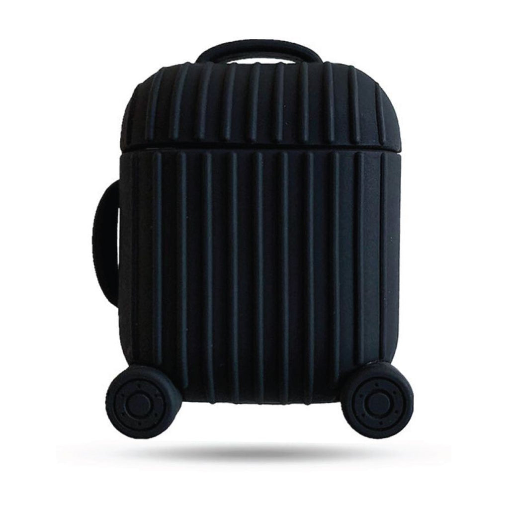 Silicone Suitcase Airpods Case - Black