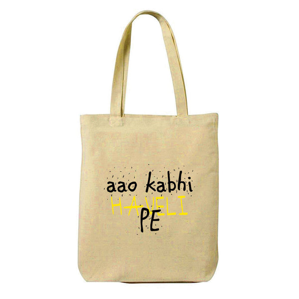 Haveli Canvas Shopping Tote Bag-Hamee India