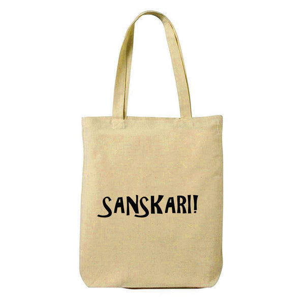 Sanskarii Canvas Shopping Tote Bag-Hamee India