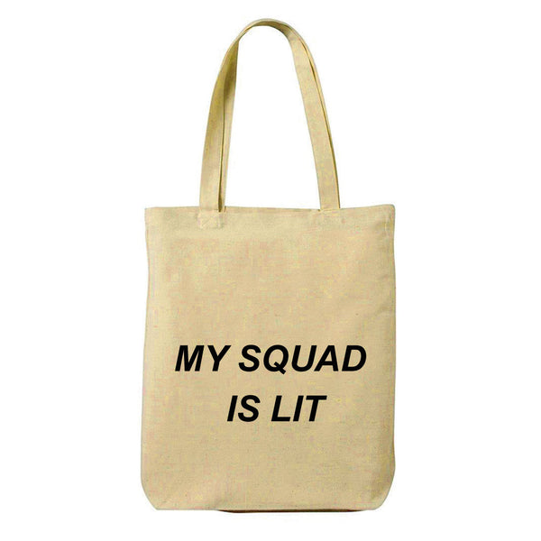 Squad Canvas Shopping Tote Bag-Hamee India