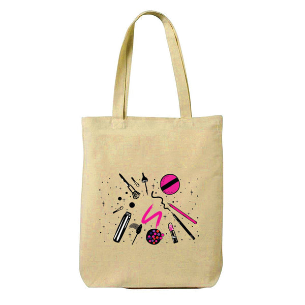Cosmetics Canvas Shopping Tote Bag-Hamee India
