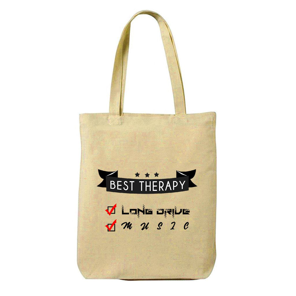 Best Therapy Canvas Shopping Tote Bag-Hamee India