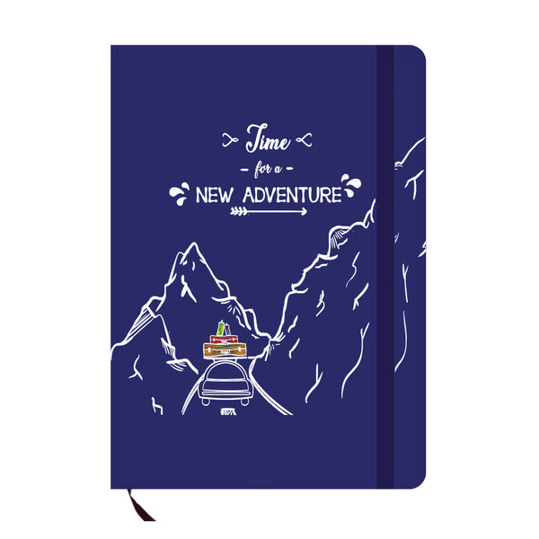 New Adventure Blue A6 Pocket Diary-Hamee India