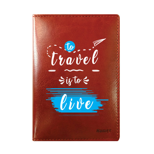 Travel Live Brown PU Leather Passport Wallet / Holder-Hamee India
