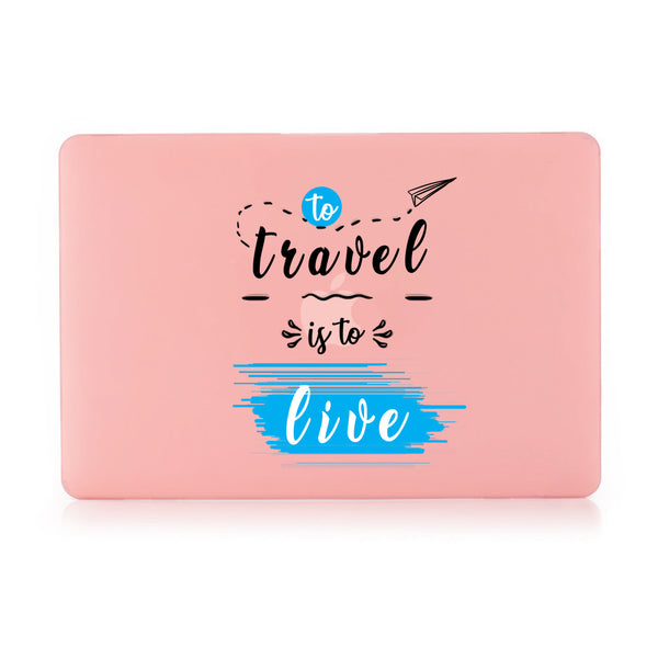 "Travel Live Pastel Pink MacBook Air 13"" Retina (2018) Cover-Hamee India"