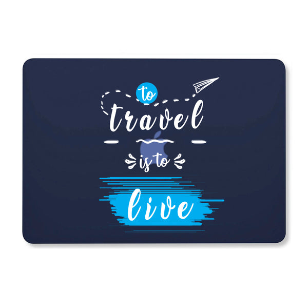 "Travel Live Navy Blue MacBook Air 13"" Retina (2018) Cover-Hamee India"