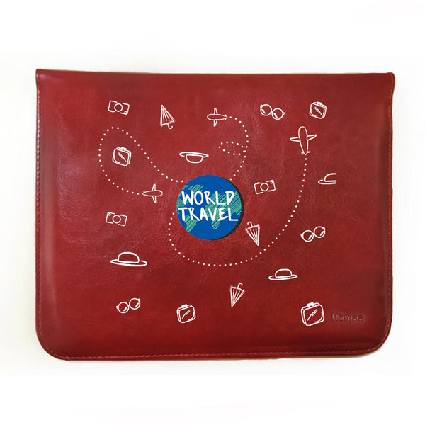 "World Travel Doodle 11"" Tablet Sleeve-Hamee India"