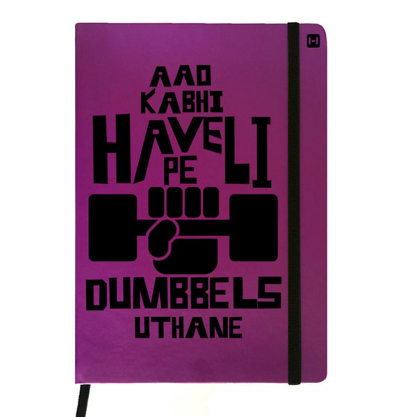 Obsessed with Dumbells - Purple Notebook-Hamee India