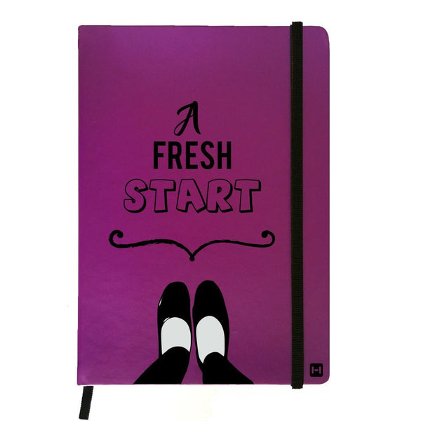 Hamee India - A Fresh Start - Purple Leather Notebook