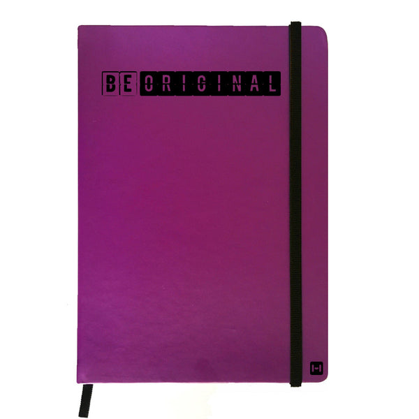 Hamee India - Be Original - Purple Leather Notebook