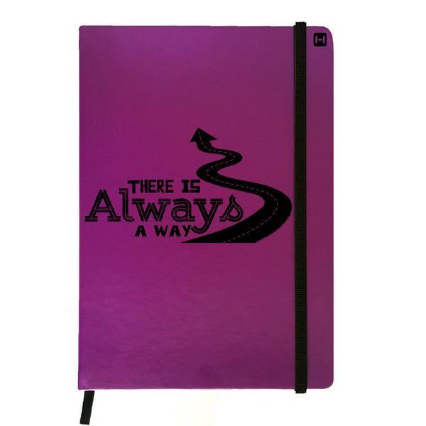 Hamee India - Always A Way - Purple Leather Notebook