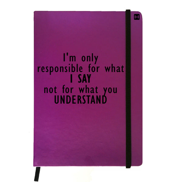 I Don't Care What You Understand - Purple Notebook-Hamee India