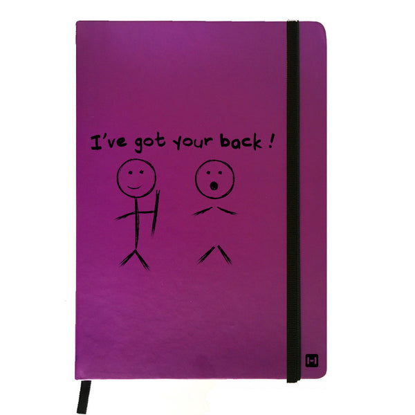I Have Got Your Back - Purple Notebook-Hamee India