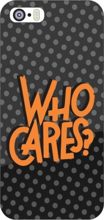 "Hamee Back Cover for iPhone 5 / 5S / SE / 5SE "" Who Cares Black Dotted "" - Hamee India"