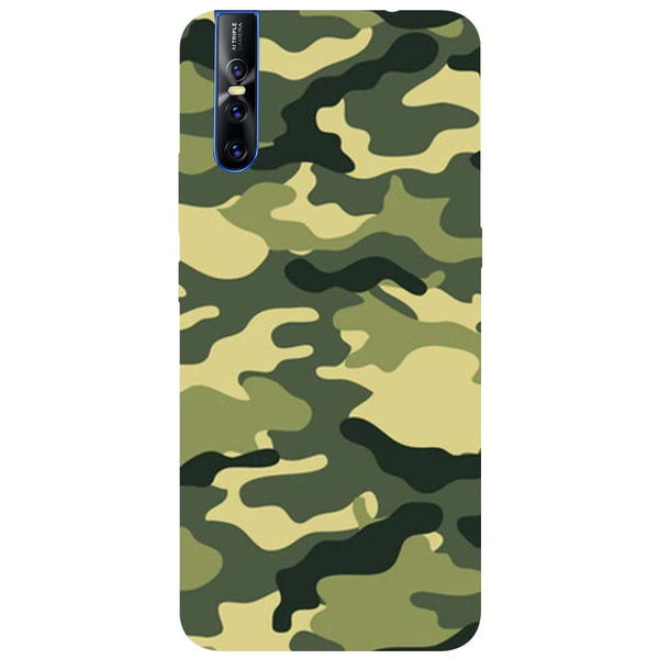 Green Camouflage Vivo V15 Pro Back Cover-Hamee India