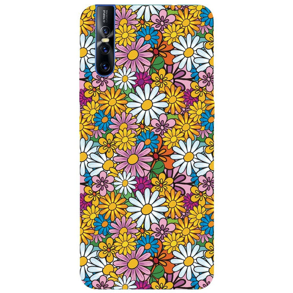 Colourful Flowers Vivo V15 Pro Back Cover-Hamee India
