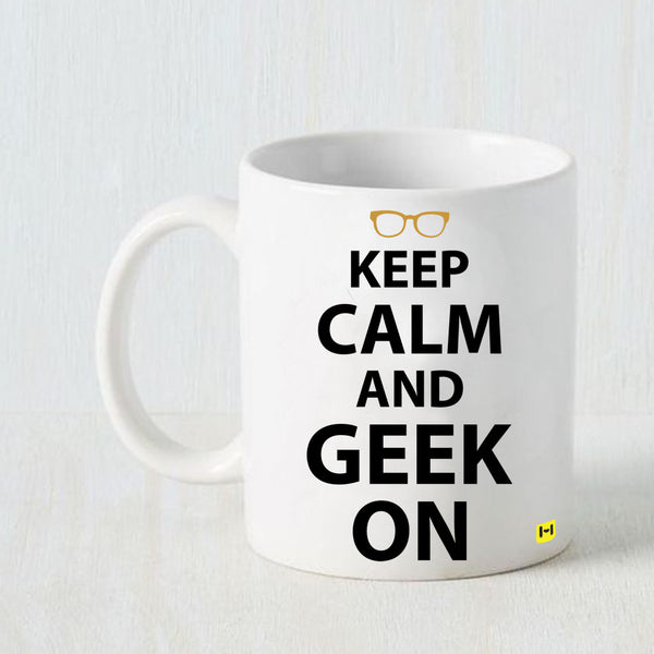 Hamee - Geek On - White Coffee Mug - Hamee India