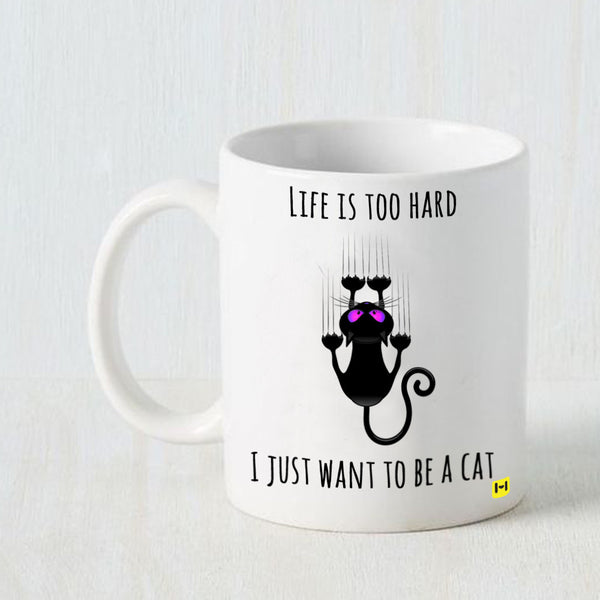 Hamee - Lazy Cat - White Coffee Mug - Hamee India