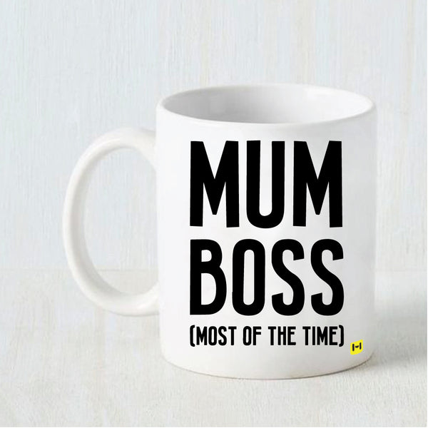 Mum Boss - White Coffee Mug-Hamee India